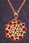 Click here to enlarge image and see more about item x6584: Czechoslovakian pendant necklace