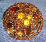Weiss topaz rhinestone brooch