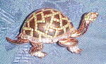 Sterling vermeil turtle pin