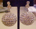 Click here to enlarge image and see more about item x6848: 1980s disco ball earrings