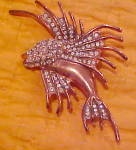 Sterling Vermeil Fish Brooch