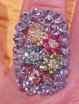 Contemporary rhinestone ring
