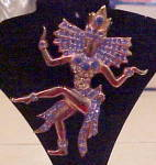 Click here to enlarge image and see more about item x6945: 1940s Thai Dancer pin