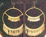 1960s brass earrings