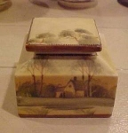 Click here to enlarge image and see more about item x700: Porcelain handpainted inkwell