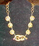 1940s retro necklace with rhinestones