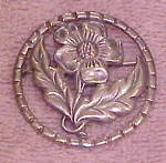 Sterling flower pin