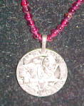Click here to enlarge image and see more about item x7059: French coin pendant