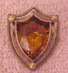 Art nouveau pin with topaz glass