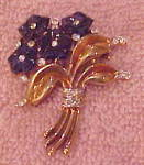 Trifari poured glass flower pin