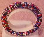 Contemporary beaded bangle