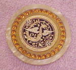 Click here to enlarge image and see more about item x7217: Art Deco Celluloid dragon button