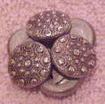 6 metal buttons with raised circles
