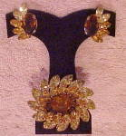 Kramer of NY Pin & Earrings Set
