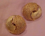 Trifari goldtone earrings