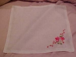 Handkerchief with red roses