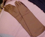 Long brown gloves