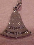 Necklace w/wedding anniversary bell pendant