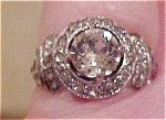 Art deco rhinestone ring