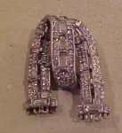 Trifari sterling rhinestone pin
