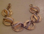 Goldtone bracelet with clera rhinestones