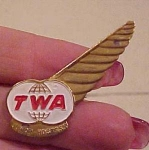 Click here to enlarge image and see more about item x869: TWA Junior hostess Wings pin