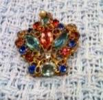 Crown Pin with Filligree wire work