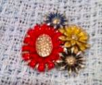Enamel Flower dress clip