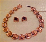 Renoir copper earrings and necklace