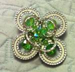 Alice Caveness pin with crystal beads