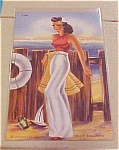 Click here to enlarge image and see more about item xx1211: Saucy Sailorette Postcard