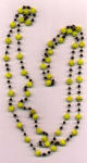 Click here to enlarge image and see more about item yczbd: Yellow czechoslovakian glass bead necklace