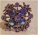Ring with aurora borealis rhinestones