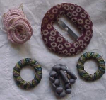 fabric and yarn covered buttons and buckles