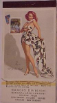 1958 Elvgren pin up notepad entitled Fit to Be Tied