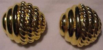 goldtone clipback earrings