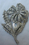 Art deco flower dress clip