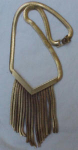 Deco style fringe necklace