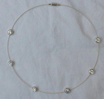 choker style necklace with cubic zirconias
