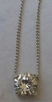 Sterling necklace with cubic zirconia