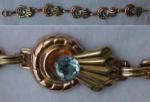 Harry Iskin 12k g.f. bracelet w/rhinestones