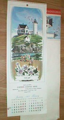 1969 cotton mn coffee shop pictorial calendar near mint free shipping