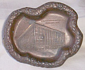 Antique Bronze Trinket Dish T.e. Eaton Co's Store Winnipeg
