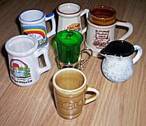 7 State Souvenir Toothpick Holders Mugs