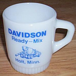 Fire King Mug Davidson Ready-Mix Holt, MN (Image1)