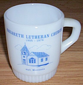 Fire King Mug Nazareth Lutheran Church Holt, MN (Image1)