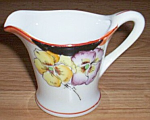 Art Deco Creamer Pansies