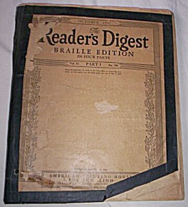 Oct 1947 Braille Reader's Digest (Image1)