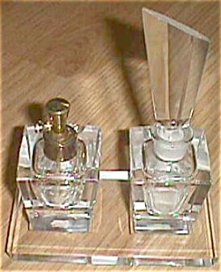 Art Deco Cut Crystal Ucagco 4 piece Perfume Set (Image1)