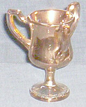 Miniature Glass Trophy Gold Minneota Mn